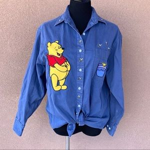 Vintage The Disney Store Winnie The Pooh Button Up